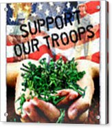 Support Our Troops Acrylic Print