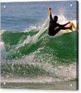 Surfer Acrylic Print by Carlos Caetano