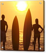Surfer Silhouettes Acrylic Print