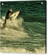 Surfing - Jersey Shore Acrylic Print