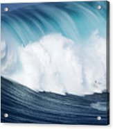 Surfing The Infamous Jaws Acrylic Print