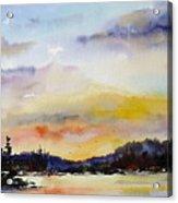 Suset At The Lake Acrylic Print
