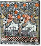 Swan Elephant Acrylic Print