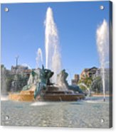 Swann Fountain - Center City Philadelphia Acrylic Print