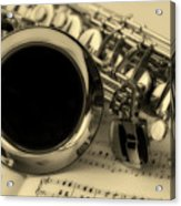 Sweet Sounds Of The Sax Acrylic Print