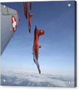 Swiss Air Force Display Team, Pc-7 Acrylic Print