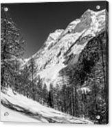 Swiss Winter Mountains Acrylic Print
