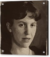 Sylvia Plath Acrylic Print