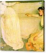 Symphony In White No 3 James Abbott Mcneill Whistler Acrylic Print