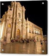 Syracuse, Sicily, Italy - Ortigia Downtown In Syracuse By Acrylic Print