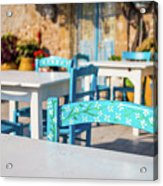 Tables In A Traditional Italian Restaurant In Sicily, Italy Acrylic Print