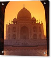 Taj Mahal View Acrylic Print