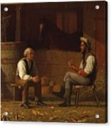 Talking It Over , Enoch Wood Perry  Acrylic Print