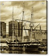 Tall Ship In Baltimore Harbor Acrylic Print