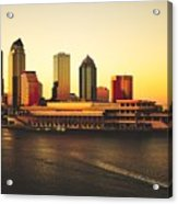Tampa At Sunset Acrylic Print