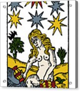Tarot Card The Stars Acrylic Print