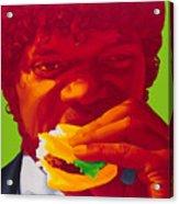 Tasty Burger Acrylic Print