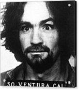 Charles Manson Mug Shot 1969 Vertical  Acrylic Print