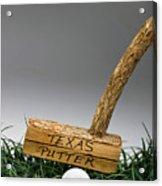 Texas Golf Putter. Acrylic Print