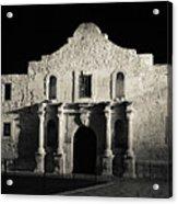 The Alamo At Night - San Antonio Texas Acrylic Print