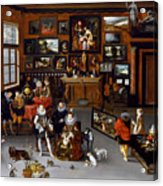 The Archdukes Albert And Isabella Visiting A Collector's Cabinet Acrylic Print