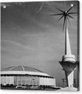 The Astrodome Aka The Eighth Wonder Acrylic Print by Everett