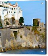 The Beach At Amalfi Acrylic Print