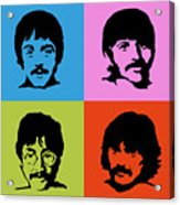 The Beatles Colors Acrylic Print
