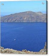 The Beautiful Caldera In Santorini, Greece With The Aegean Sea Acrylic Print