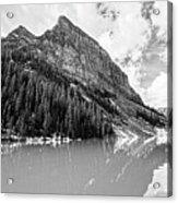 The Beauty Of Lake Louise Bw Acrylic Print