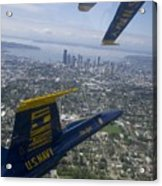 The Blue Angels Over Seattle Acrylic Print
