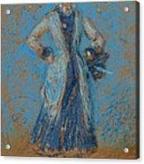 The Blue Girl Acrylic Print