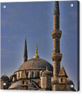The Blue Mosque In Istanbul Turkey Acrylic Print