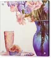 The Blue Vase Acrylic Print by Bobbi Price