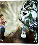 The Boy And The Lion 3 Acrylic Print