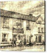 The Bull Pub Theydon Bois Vintage Acrylic Print
