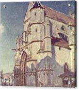 The Church At Moret Acrylic Print by Alfred Sisley