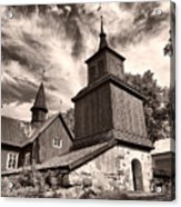 The Church Of Fagervik Acrylic Print