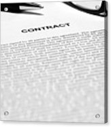 The Legal Contract Acrylic Print
