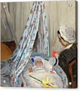 The Cradle - Camille With The Artist's Son Jean Acrylic Print
