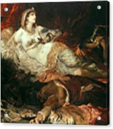The Death Of Cleopatra Acrylic Print