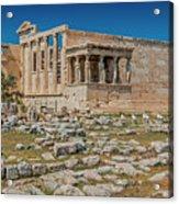 The Erechtheum On The Acropolis, Athens, Greece Acrylic Print