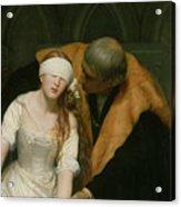 The Execution Of Lady Jane Grey Acrylic Print by Hippolyte Delaroche