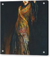 The Flamenco Dancer Acrylic Print