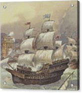 The Fleet Of Jean Ango Blocks The Tagus Acrylic Print