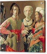 The Fortune Teller Acrylic Print by Georges de la Tour
