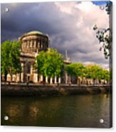 The Four Courts In Reconstruction 2 Acrylic Print