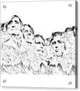 The Four Presidents Acrylic Print