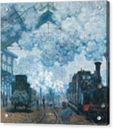 The Gare Saint-lazare Arrival Of A Train Acrylic Print