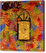 The Golden Door Of Grace Acrylic Print